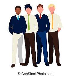 グループ, チームワーク, ビジネスマン, 特徴