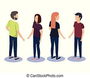 グループ, チームワーク, 人々