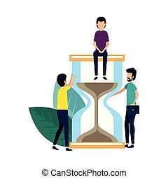 グループ, ビジネスマン, 特徴, avatars