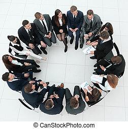 グループ, ビジネス 人々, モデル, 大きい会合