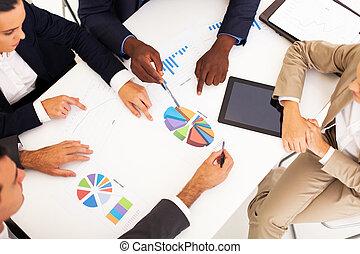 グループ, ビジネス 人々, 持つこと, ミーティング