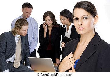 グループ, リーダー, ビジネス