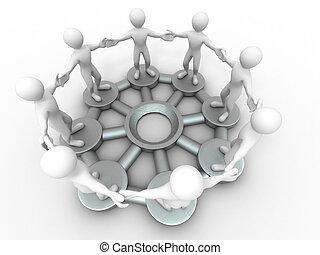 グループ, 人々。, コミュニケーション, teamwork., イメージ, 概念, ∥あるいは∥, 3d