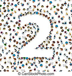 グループ, 人々, ナンバー2, 大きい, 2, form.