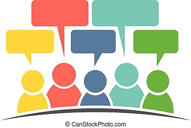 グループ, 人々, 媒体, ベクトル, デザイン, comments., 社会, ロゴ