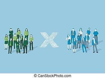 グループ, 人々, 2, ビジネス