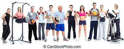 グループ, 健康, フィットネス, 人々。