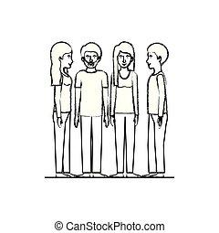 グループ, 友人, 特徴