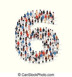 グループ, 形態, 人々, 6, 数, 大きい, 6