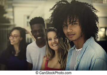 グループ, 成人, 世代, 若い, y, インターナショナル