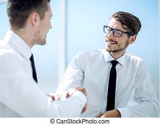 グループ, 成功, ビジネス 人々, オフィス, 手, 振動, チーム
