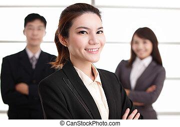 グループ, 成功, ビジネス 人々