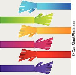 グループ, 握手, 人々, ベクトル, 手, アイコン