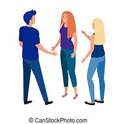 グループ, 特徴, 人々, avatar