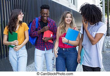 グループ, 生徒, 大学, 話し, 方法, インターナショナル