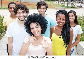 グループ, 男性, 若い 大人, インターナショナル, 女性
