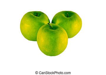 グループ, 緑, 3, りんご
