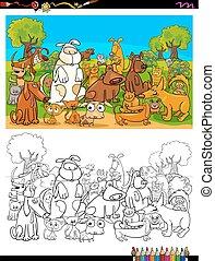 グループ, 色, 犬, ネコ, 特徴, 本