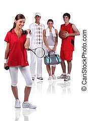 グループ, 運動選手, 若い