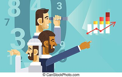 グループ, 金融, ビジネス, グラフ, 提示, チャート, アラビア人, レポート, 人