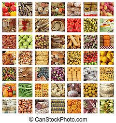 グループ, 食物, tus, -, コレクション, イメージ, 新たに, 品質, イタリア語