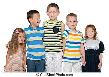 グループ, 5, うれしい, 子供