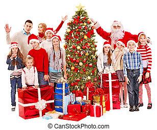 グループ, claus., santa, 子供