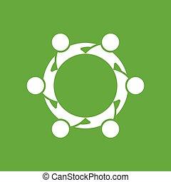 グループ, collaborative, 人々
