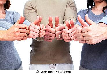 グループ, hands., 人々