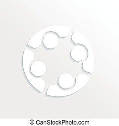 グループ, logo., 人々