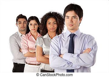グループ, multiethnic, businesspeople