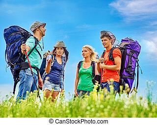 グループ, travel., 人々