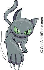 グレーの猫, かぎつめ, かきなさい