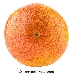 グレープフルーツ, 白, フルーツ, 隔離された, 背景