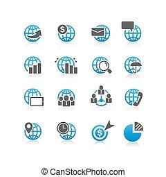 グローバルなビジネス, 金融, アイコン