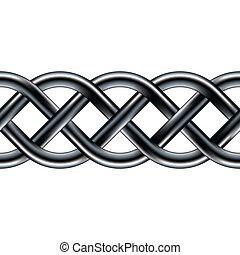 ケルト, seamless, ロープ, ボーダー
