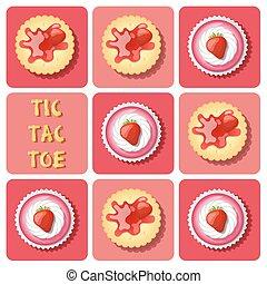 ケーキ, いちご, チック tac - 足指, クラッカー, カップ