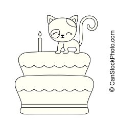 ケーキ, かわいい, birthday, ねこ