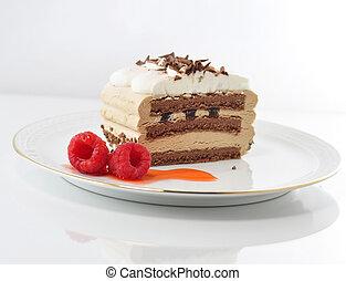 ケーキ, カプチーノ, クリーム