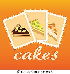 ケーキ, スタンプ