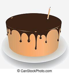 ケーキ, チョコレート アイシング