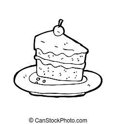 ケーキ, 味が良い, 漫画