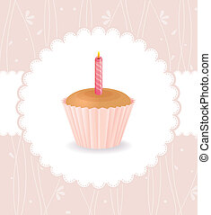 ケーキ, 型, 誕生日カード