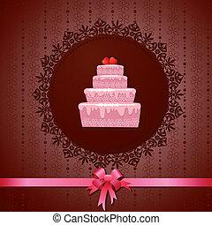 ケーキ, 型, celebratory, 背景