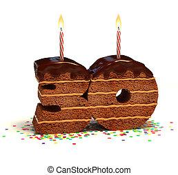 ケーキ, 形づくられた, 30, 数, チョコレート