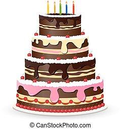 ケーキ, 甘い, birthday, チョコレート