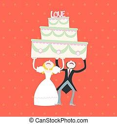 ケーキ, 結婚式