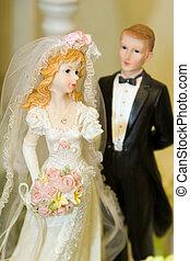 ケーキ, 装飾, 結婚式