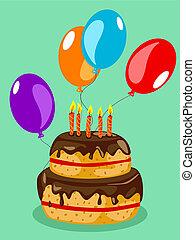 ケーキ, 誕生日カード
