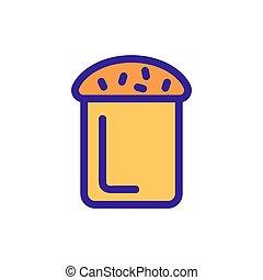 ケーキ, 輪郭, イースター, vector., イラスト, シンボル, 隔離された, アイコン